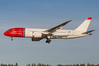 Norwegian Air Shuttle (Norwegian.com) (Norwegian Long Haul) Boeing 787-8 Dreamliner EI-LNF (msn 35313) ARN (Stefan Sjogren). Image: 923625.