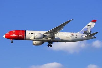 Norwegian Air Shuttle (Norwegian.com) (Norwegian Long Haul) Boeing 787-8 Dreamliner EI-LNG (msn 35314) (Edvard Munch, Norwegian Artist) LAX (Steve Bailey). Image: 925156.