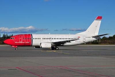 Norwegian Air Shuttle (Norwegian.com) Boeing 737-3Y0 LN-KKO (msn 24910) OSL (Ton Jochems). Image: 955549.
