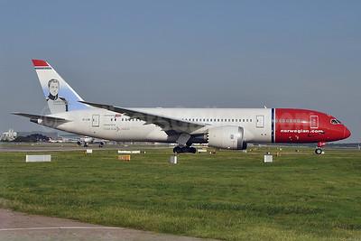 Norwegian Air Shuttle (Norwegian.com) (Norwegian Long Haul) Boeing 787-8 Dreamliner EI-LND (msn 35310) (Grete Waitz)  LGW (Robbie Shaw). Image: 924856.