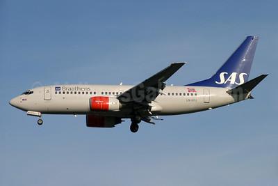 SAS Braathens Boeing 737-783 LN-RPJ (msn 30192) LHR (Antony J. Best). Image: 900711.