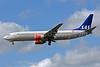 Scandinavian Airlines-SAS (SAS Norge) Boeing 737-883 LN-RCY (msn 28324) LHR (Bruce Drum). Image: 101539.