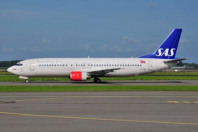 Scandinavian Airlines-SAS (SAS Norge) Boeing 737-405 LN-BRI (msn 24644) AMS (Ton Jochems). Image: 953504.