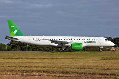 Wideroe (Widerøe's Flyveselskap AS) Embraer E190-E2  (ERJ 190-300STD) LN-WEC (msn 19020011) SEN (Keith Burton). Image: 951887.