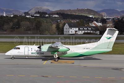 Wideroe (Widerøe's Flyveselskap AS) Bombardier DHC-8-311 LN-WFP (msn 495) SVG (Robbie Shaw). Image: 909355.