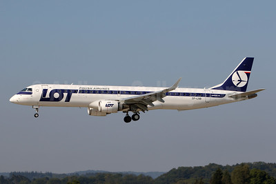 LOT Polish Airlines Embraer ERJ 190-200LR (ERJ 195) SP-LNB (msn 19000444) ZRH (Andi Hiltl). Image: 945221.