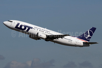 LOT Polish Airlines Boeing 737-45D SP-LLG (msn 28753) LHR (SPA). Image: 934983.