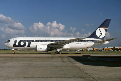 LOT Polish Airlines Boeing 767-25D ER SP-LOB (msn 24734) LHR. Image: 927430.