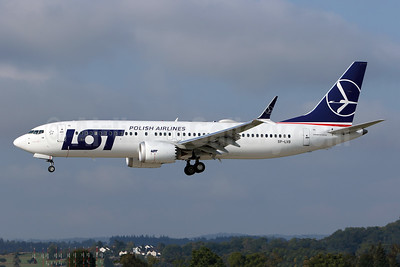 LOT Polish Airlines Boeing 737-8 MAX 8 SP-LVB (msn 64068) ZRH (Andi Hiltl). Image: 943413.