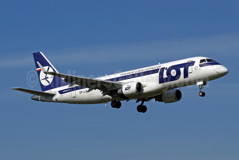 LOT Polish Airlines Embraer ERJ 170-200LR (ERJ 175) SP-LIA (msn 17000125) WAW (Jacek Fiszer). Image: 904932.