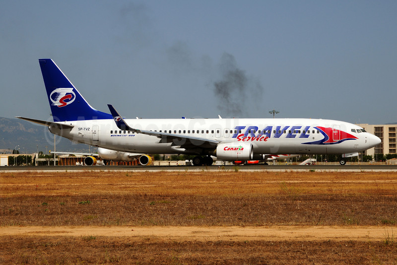 Travel Service Airlines (Poland) Boeing 737-8BK WL SP-TVZ (msn 29643) PMI (Ton Jochems). Image: 909234.