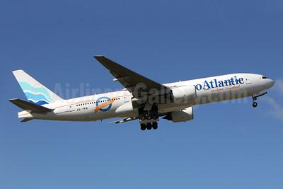 EuroAtlantic Airways Boeing 777-212 ER CS-TFM (msn 28513) (20 Years - 1993-2013) LIS (Pedro Baptista). Image: 921782.
