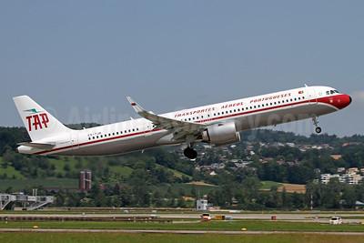 TAP-Transportes Aereos Portugueses Airbus A321-251N WL CS-TJR (msn 10105) ZRH (Andi Hiltl). Image: 954464.