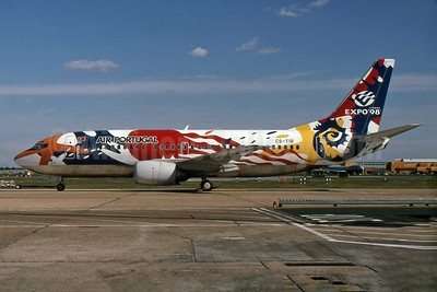 TAP's promotional Expo '98 Lisboa livery