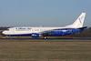 Blue Air Boeing 737-4Q8 YR-BAR (msn 25371) LTN (Antony J. Best). Image: 925547.