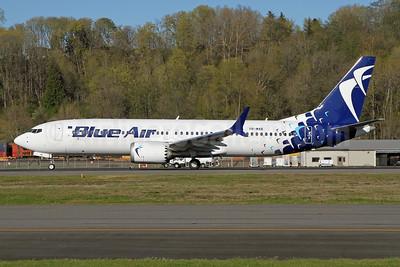 Blue Air Boeing 737-8 MAX 8 YR-MXB (msn 43306) BFI (Nick Dean). Image: 953461.