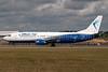 Blue Air Boeing 737-4D7 YR-BAQ (msn 28702) LTN (Rob Skinkis). Image: 931751.