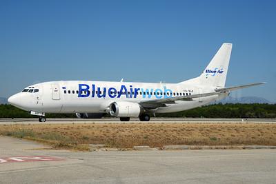 Blue Air (BlueAirweb.com) Boeing 737-322 YR-BAF (msn 24453) AYT (Ton Jochems). Image: 920220.