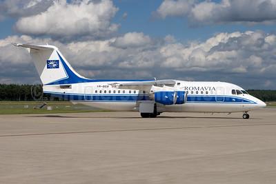 Romavia BAe 146-200 YR-BEB (msn E2220) NUE (Gunter Mayer). Image: 941488.