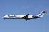 Tend Air McDonnell Douglas DC-9-82 (MD-82) YR-MDK (msn 49139) LGW (Terry Wade). Image: 907721.