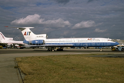 AJT Air International Tupolev Tu-154M RA-85704 (msn 91A879) LGW (Mike Axe - Bruce Drum Collection). Image: 951561.