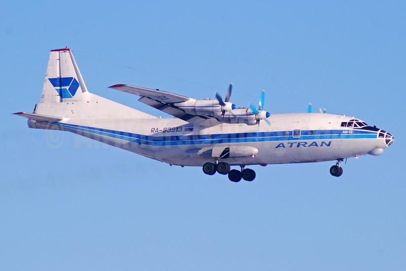 ATRAN (Aviatrans Cargo Airlines)-Volga-Dnepr Group Antonov An-12BP RA-93913 (msn 4342609) DME (OSDU). Image: 909076.