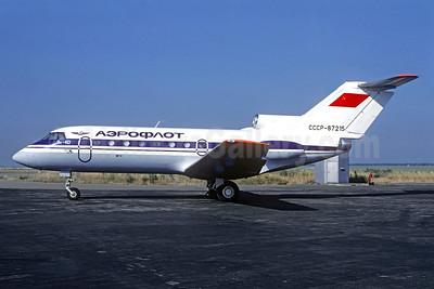 Aeroflot Russian International Airlines Yakovlev Yak-40 CCCP-87215 (msn 9510540) PRG (Christian Volpati Collection). Image: 935213.
