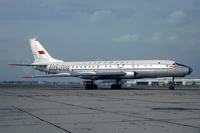 Aeroflot Russian International Airlines Tupolev Tu-104A CCCP-42456 (msn 9350905) LHR (Jacques Guillem Collection). Image: 941513.
