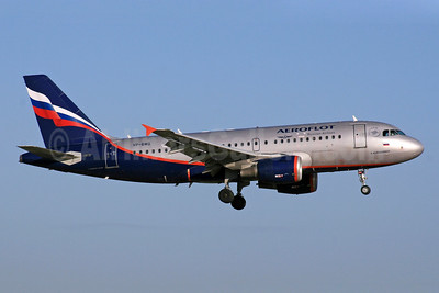 Aeroflot Russian Airlines Airbus A319-111 VP-BWG (msn 2093) LHR (SPA). Image: 940529.