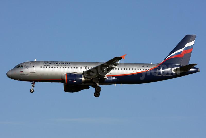 Aeroflot Russian Airlines Airbus A320-214 VQ-BAX (msn 3778) LHR (SPA). Image: 927733.
