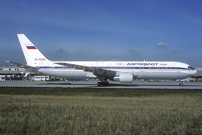 Aeroflot Russian International Airlines Boeing 767-3Y0 ER EI-CKD (msn 26205) FRA (Christian Volpati Collection). Image: 936830.