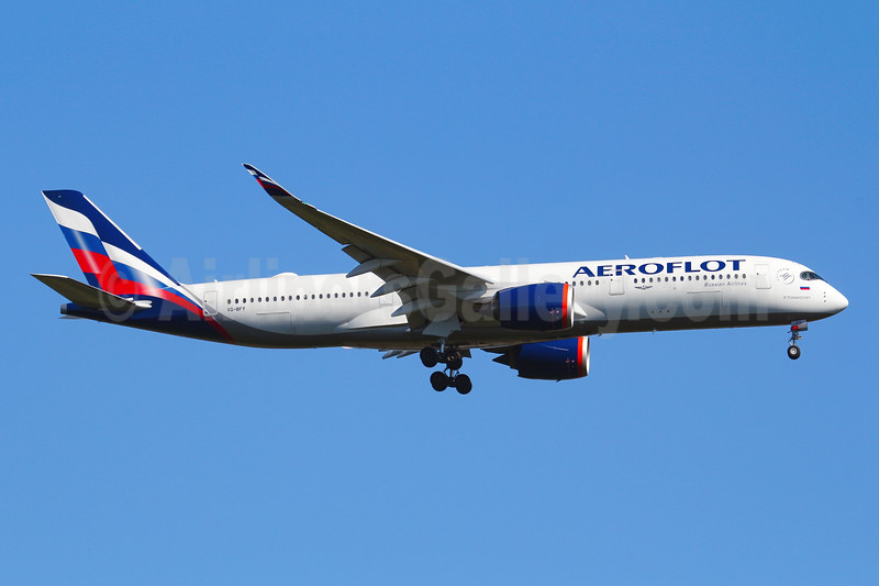 Aeroflot revises its livery with the first Airbus A350-900