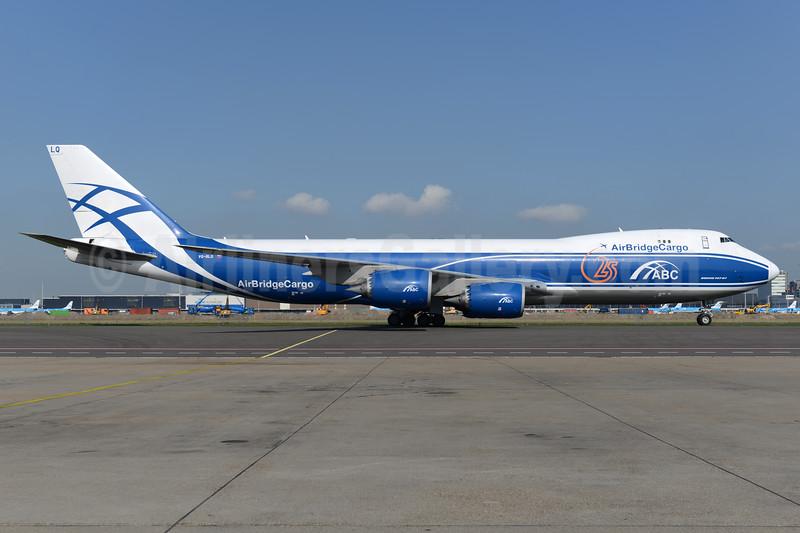 AirBridgeCargo Airlines-ABC Boeing 747-8HVF VQ-BLQ (msn 37581) (25 Years) AMS (Ton Jochems). Image: 937651.