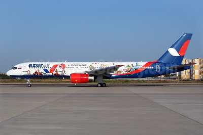 "Azur Air's 2017 ""The Land of Legends"" logo jet"