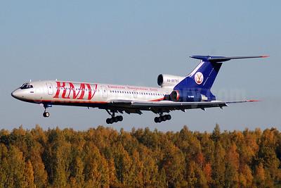 KMV Avia-Kavkazskie Mineralnye Vody Tupolev Tu-154M RA-85760 (msn 92A942) (Aeroflot colors) DME (OSDU). Image: 905598.