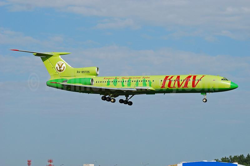 KMV Avia-Kavkazskie Mineralnye Vody Tupolev Tu-154M RA-85725 (msn 92A907) (S7 Airlines colors) VKO (OSDU). Image: 906951.