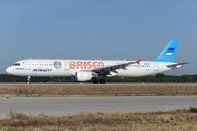 MetroJet's Russian travel company Brisco logo jet