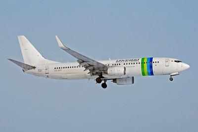 Moskovia Airlines Boeing 737-8K2 WL VQ-BPF (msn 30391) (Transavia colors) DME (OSDU). Image: 907846.