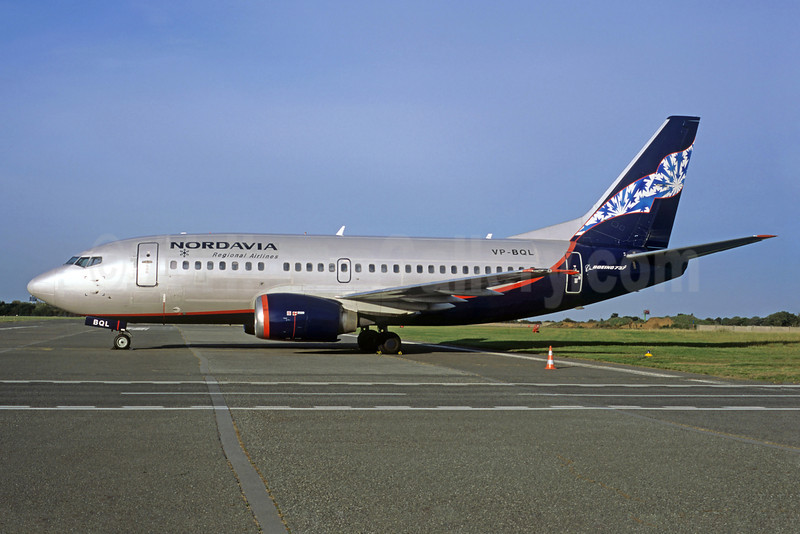 Nordavia Regional Airlines Boeing 737-5Y0 VP-BQL (msn 25185) (Jacques Guillem Collection). Image: 922353.