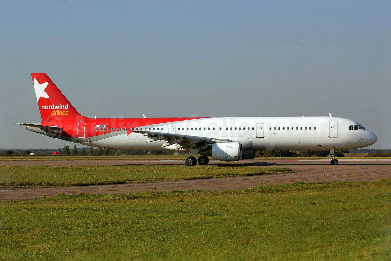 Nordwind Airlines Airbus A321-211 M-ABED (VQ-BOE) (msn 1219) NWI (Matt Varley). Image: 908623.