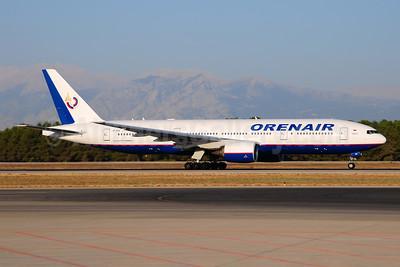 Orenair (Orenburg Airlines) Boeing 777-2Q8 ER VP-BHB (msn 29402) AYT (Ton Jochems). Image: 909820.
