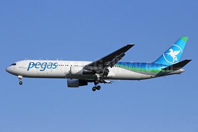 Pegas Fly (Pegas Touristik) (IKAR Airlines)  Boeing 767-3Q8 ER VQ-BTQ (msn 28207) BKK (Michael B. Ing). Image: 925474.