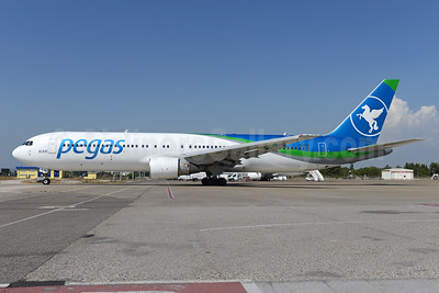 Pegas Fly (Pegas Touristik) (IKAR Airlines)  Boeing 767-3Q8 ER VQ-BTQ (msn 28207) AYT (Ton Jochems). Image: 934584.