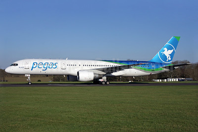 Pegas Fly (Pegas Touristik) (IKAR Airlines) Boeing 757-2Q8 VQ-BBT (msn 29443) QLA (Antony J. Best). Image: 925612.