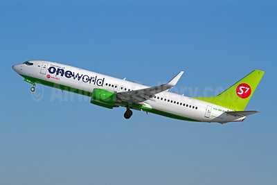 S7 Airlines (Siberia Airlines) Boeing 737-8ZS VQ-BKW (msn 37085) (Oneworld) DME (OSDU). Image: 907751.