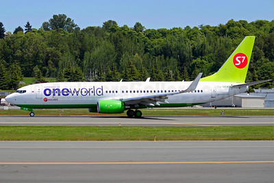 S7 Airlines (Siberia Airlines) Boeing 737-8ZS VQ-BKW (msn 37085) (Oneworld) BFI (Joe G. Walker). Image: 906504.