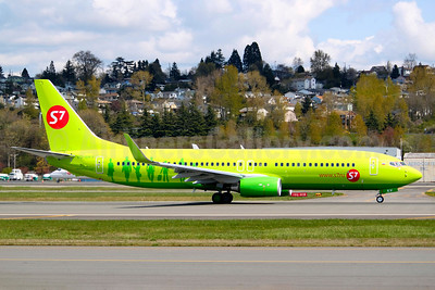 S7 Airlines (Siberia Airlines) Boeing 737-8ZS WL VQ-BKV (msn 37084) BFI (Joe G. Walker). Image: 906322.