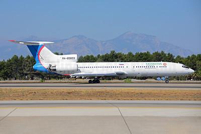 Tatarstan Airlines (Tatarstan Aircompany) Tupolev Tu-154M RA-85833 (msn 01A1020) (Ural Airlines colors) AYT (Ton Jochems). Image: 920749.