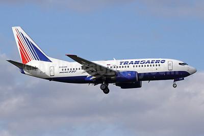 Transaero Airlines Boeing 737-7Q8 EI-EUW (msn 29350) LHR (Michael B. Ing). Image: 909752.