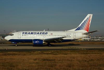 Transaero Airlines Boeing 737-5Q8 EI-DTX (msn 28052) FRA (Bernhard Ross). Image: 900585.